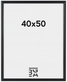 Line ramme Sort 40x50 cm