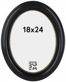 Eiri Mozart Oval Fotoramme Sort 18x24 cm