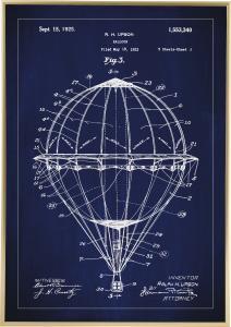 Patenttegning - Luftballon - Blå
