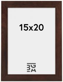 Stilren Billedramme Valnød 15x20 cm