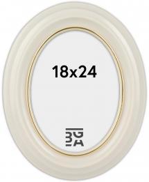 Eiri Mozart Oval Fotoramme Hvid 18x24 cm