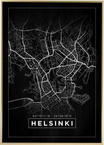 Kort - Helsinki - Sort