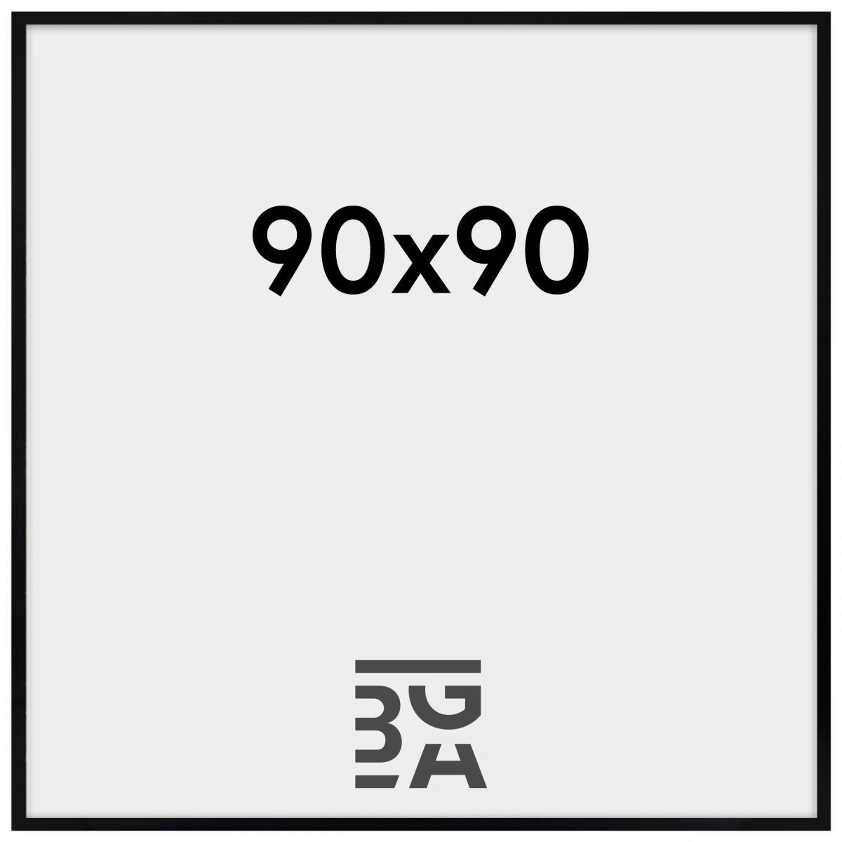 Kjempebra Amanda Box Plexiglas ramme Sort 90x90 cm - BGA Nordic GA-08