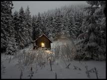 Sommerhus i vinterfrakke