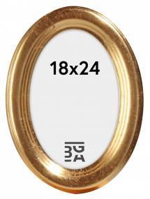 Molly ramme Oval Guld 18x24 cm