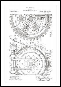 Patenttegning - Gear - Hvid