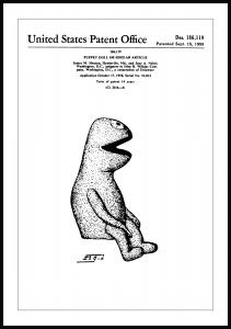 Patenttegning - Muppets - Kermit I