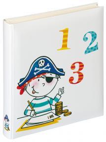 Børnealbum Piratskole - 28x30,5 cm (50 Hvide sider / 25 blade)