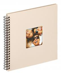 Fun Spiralalbum Sand - 30x30 cm (50 Sorte sider / 25 blade)