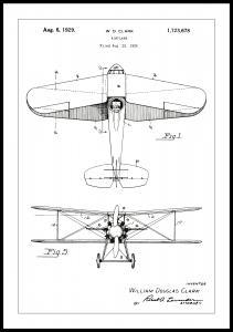 Patenttegning - Fly - Hvid
