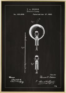 Patenttegning - Elpære B - Sort