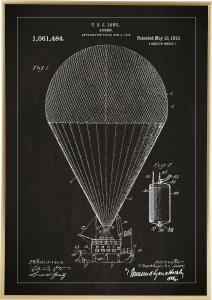 Patenttegning - Luftskib - Sort