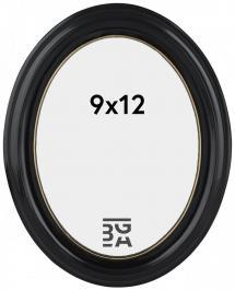 Eiri Mozart Oval Fotoramme Sort 9x12 cm