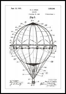 Patenttegning - Luftballon - Hvid