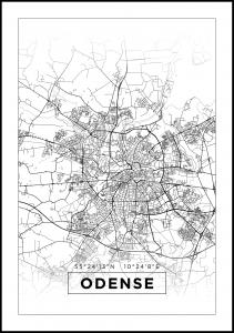 Map - Odense - White