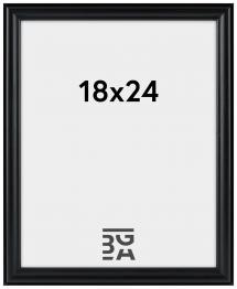 Line ramme Sort 18x24 cm