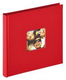 Fun Rød - 18x18 cm (30 Sorte sider)