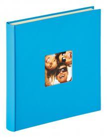Fun Selvhæftende Havsblå - 33x34 cm (50 Hvide sider / 25 blade)