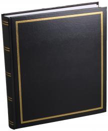 Diamant Fotoalbum Sort 27,5x32 cm (100 Hvide sider / 50 Blade)