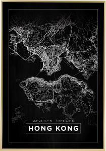 Map - Hong Kong - Black