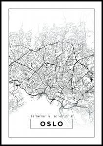 Kort - Oslo - Hvid