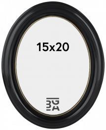 Eiri Mozart Oval Fotoramme Sort 15x20 cm