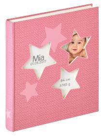 Estrella Babyalbum Rosa - 28x30,5 cm (50 Hvide sider / 25 blade)
