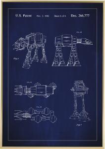Patenttegning - Star Wars - Walker - Blå
