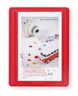 Polaroid Minialbum rød - 28 Billeder i 5x7,6 cm