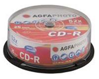 AgfaPhoto CD-R 80min 52x Speed, Cakebox 25-pak